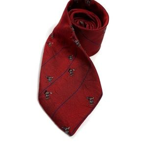 Disney Collection Red Silk Mickey Mouse 1987 Tie